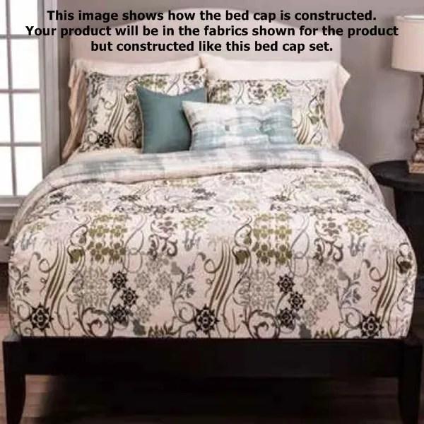 Spring Forward Bed Cap Comforter Set Modern Floral Bedding