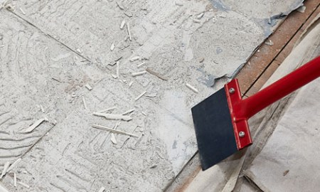 How to remove floor tiles   Bunnings Warehouse Scrape off floor tile glue