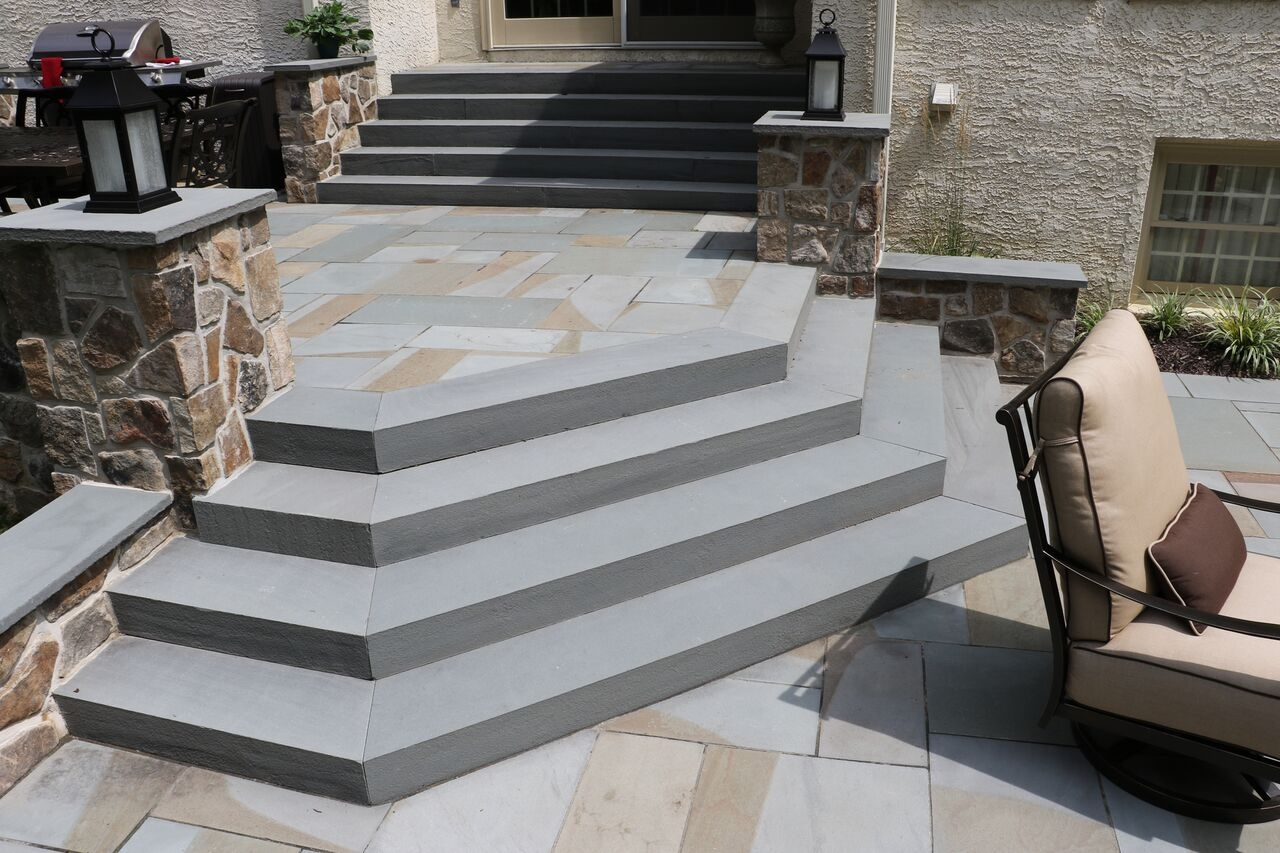 Steps Stairs Burkholder Landscape   3 Step Stairs Design   Stand Alone   Picture Framing   Travel Trailer   Creative   Pennsylvania Bluestone