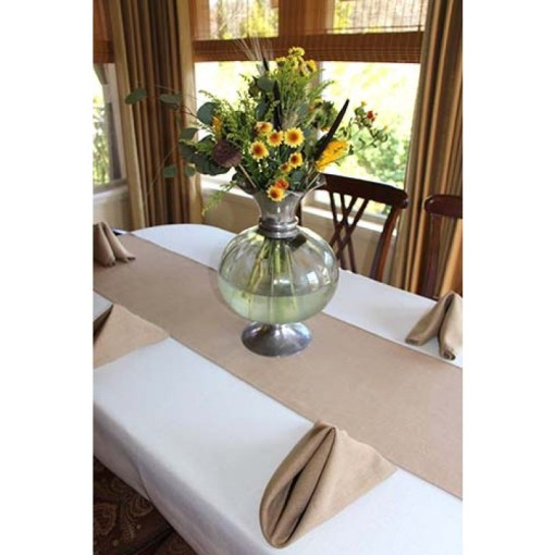 Havana Linen Table Runners 13 x 54   Event Table Linens     Tan Table Runner on dining table