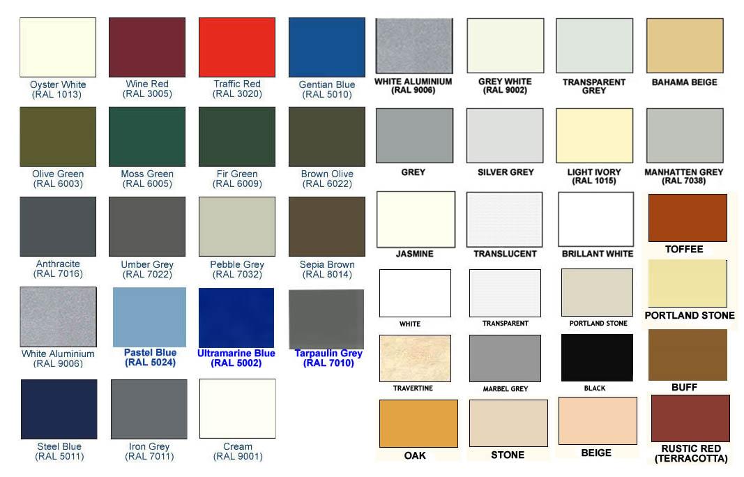 Dow Corning Sealant Colors