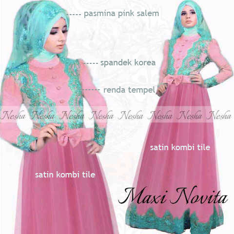 Model Baju Renda Warna Pink 30
