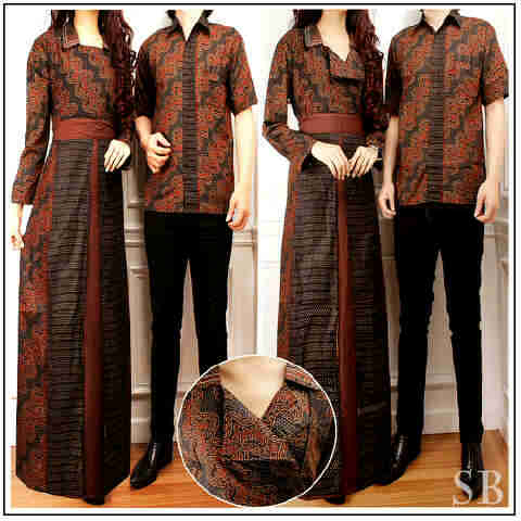 Model Baju Batik Gamis Couple 28