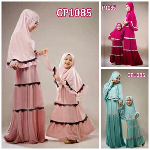 Gamis Couple Zahra Cp Mom N Kid