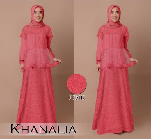 Image Result For Model Gamis Polos Kombinasi Tile
