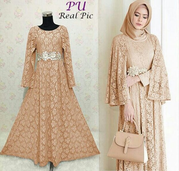 Image Result For Model Baju Gamis Pesta Warna Salem