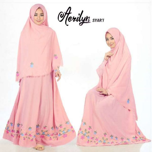 Image Result For Model Gamis Polos Warna Merah