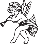 angel clipart for headstones - 154×180