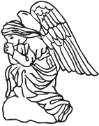 angel clipart for headstones - 142×180