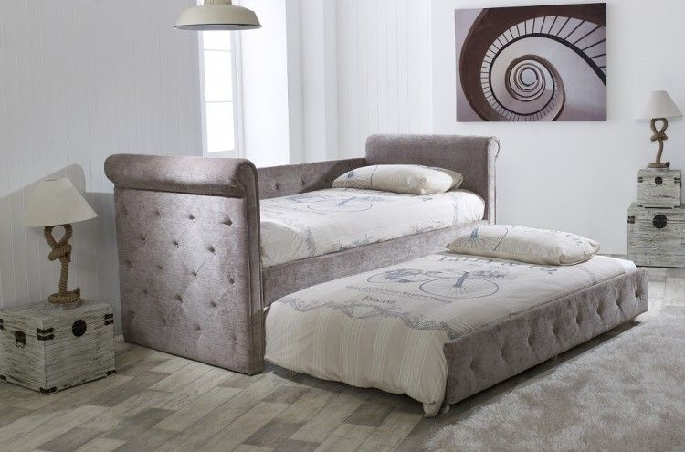 Limelight Beds Zodiac Mink Fabric Single Day Bed With