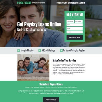 Payday loan landing page design templates for payday loan ...