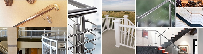 Steel Aluminum Industrial Stair Railing Stair Handrail   Steel Railing For Steps   Modular   Wooden   Terrace   Modern Farmhouse   Loha