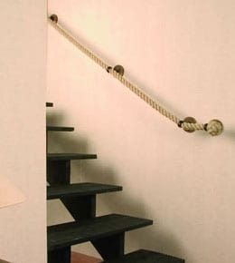 Rope Handrail Banister Stair Ropes Buy Rope | Wrought Iron Rope Handrail | Twisted | Rope Twist | Porch | Brackets | Unlacquered Brass