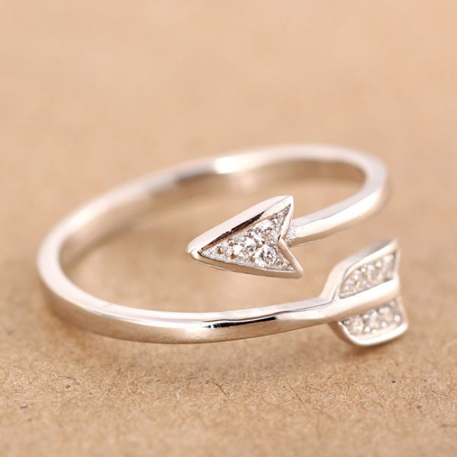 925 Sterling Silver Cupid Arrow Couple Opening Ring   Fashion Rings     925 Sterling Silver Cupid Arrow Couple Opening Ring   Fashion Rings    Jewelry  ByGoods Com