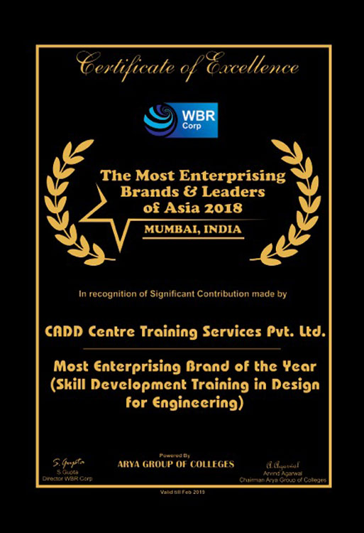 Awards Franchise India Holding Recognized Cadd Centre As
