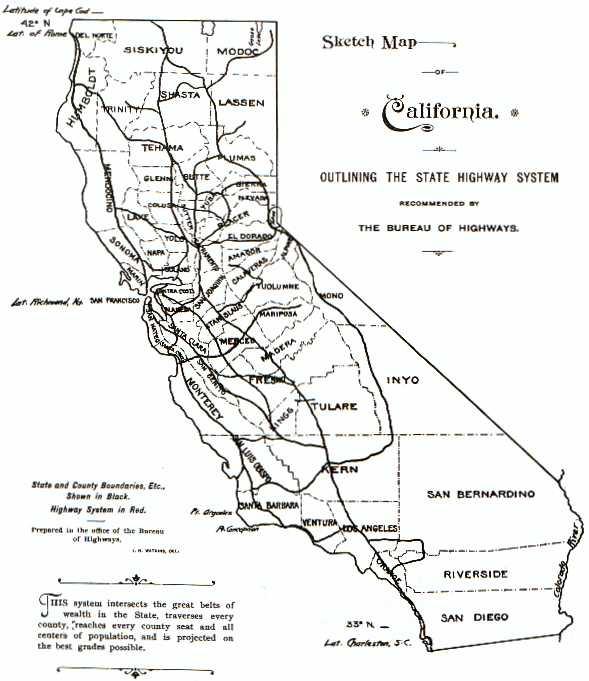 Counties California Map Freeways