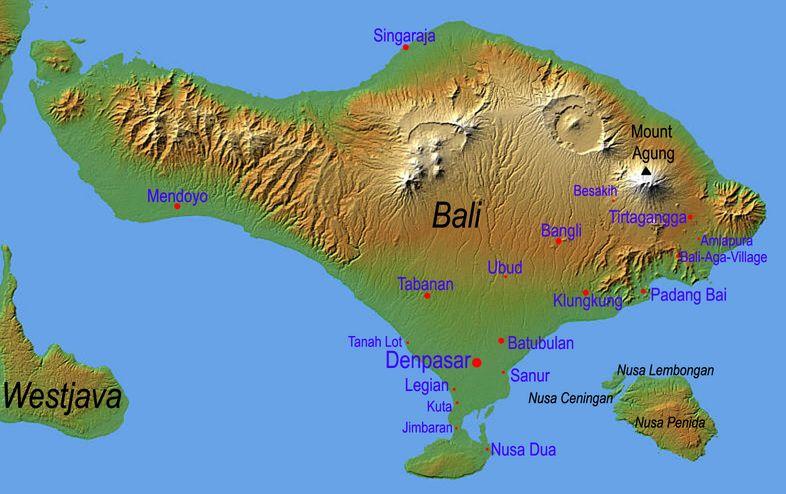 Bali And Vietnam Map