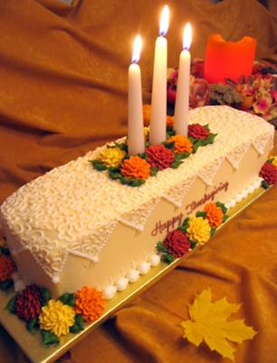 Thanksgiving Cakes   http   www cake decorating corner com  Thanksgiving Centerpiece Cake