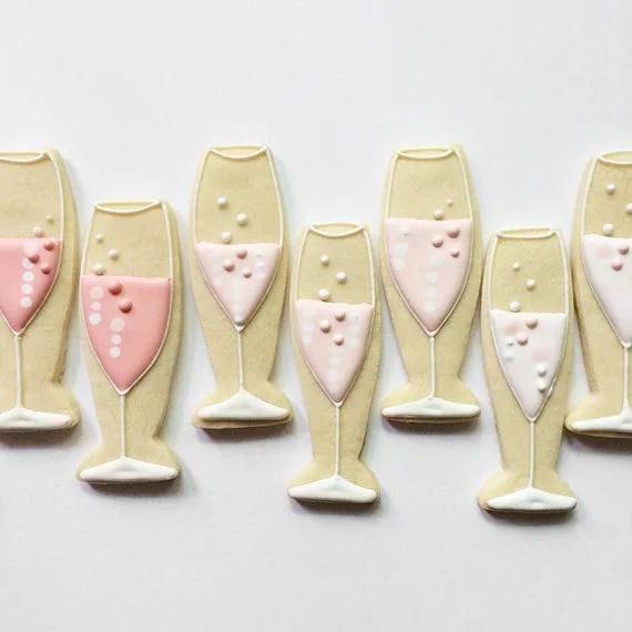 Biscotti Decorati A Forma Di Fl 251 Te Di Champagne