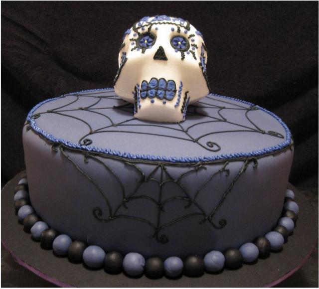 Very Cool Dark Purple Halloween Cake Photos Jpg 1 Comment