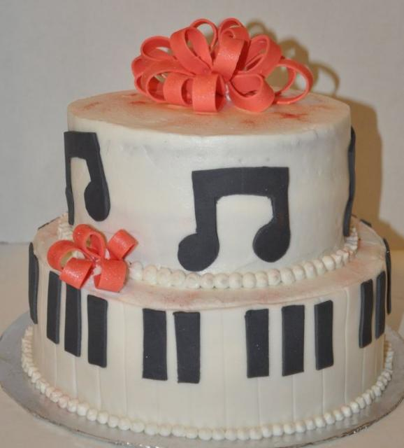 Two Tier White Piano And Music Theme Cake Jpg 2 Comments