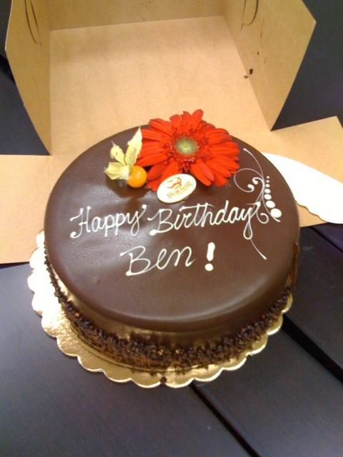 Chocolate Birthday Cake With Fresh Flowers Jpg 1 Comment
