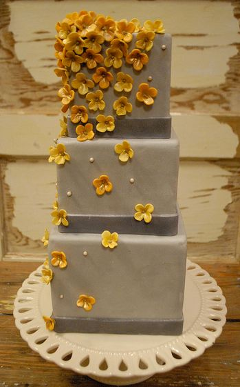 3 Tier Square Gray Cake With Yellow Flowers Jpg 1 Comment