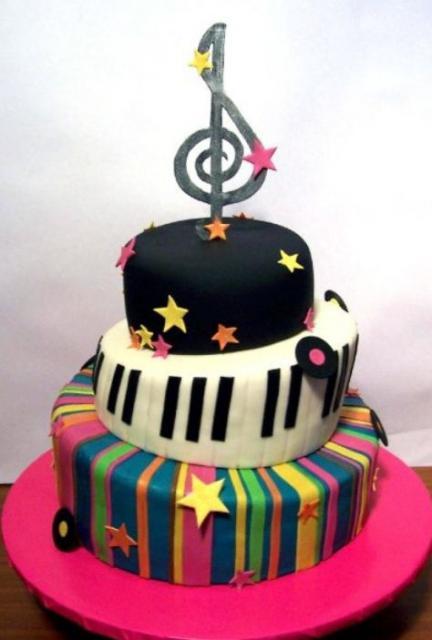 3 Tier Music Theme Birthday Cake Jpg 4 Comments