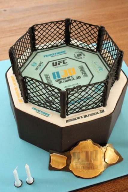 Ufc Octagon Ring Birthday Cake Jpg