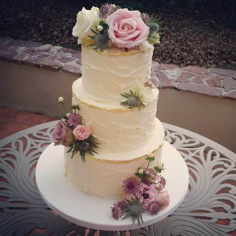 buttercream wedding cakes  raquo  Buttercream Finish Wedding Cakes   Cakes By Dawn Buttercream Gold Leaf Edge
