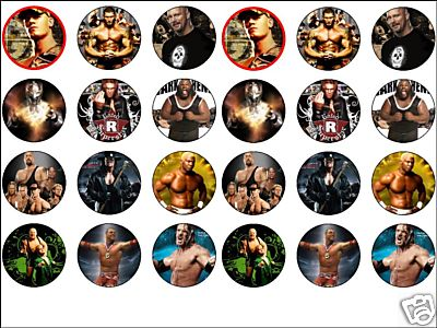 24 X Wwe Raw Cena Etc 1 6 Edible Rice Wafer Paper Cup Cake