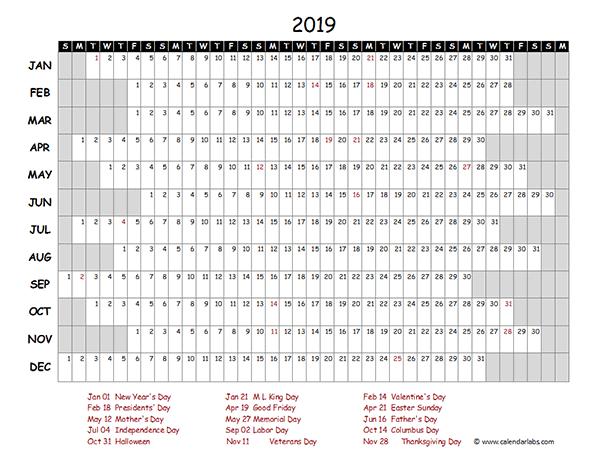 2018 Quarterly Calendar Template Word