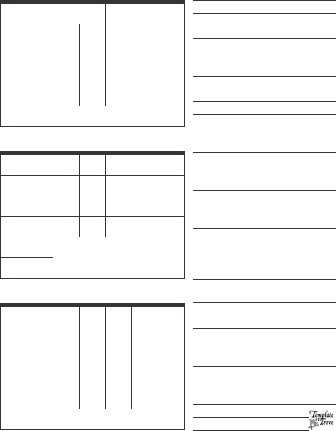 2015 calendar 3 months per page