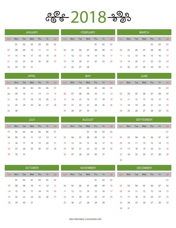 8 11 12 Monthly X Printable Calendar Blank