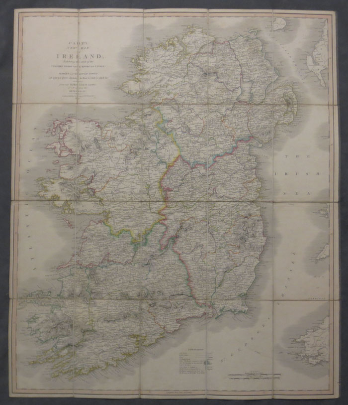 Cary s Travelling Map of Ireland  exhibiting the Whole of the Post     Cary s Travelling Map of Ireland  exhibiting the Whole of the