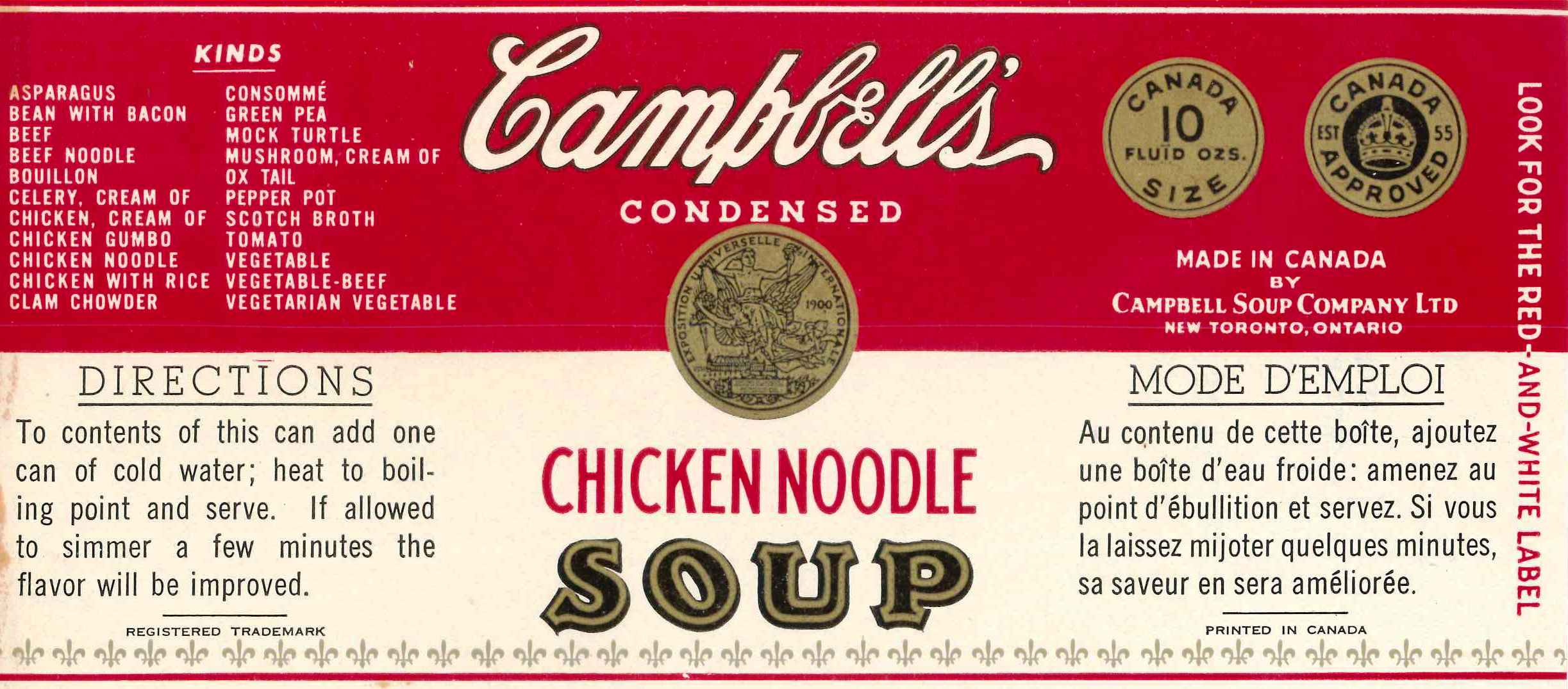 Campell Labels Can Soup