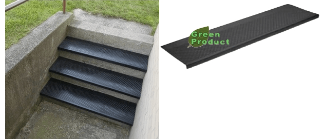 No 633 Outdoor Rubber Stair Tread Canal Rubber   Outdoor Composite Stair Treads   Stone   Framed   Outside   Ready Made   Blocking