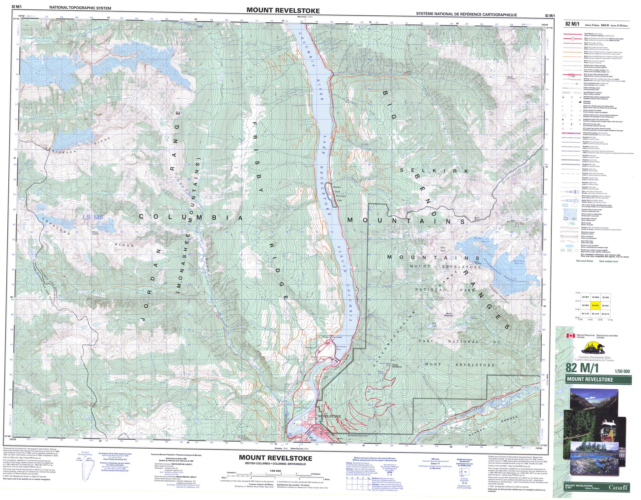 Buy Mount Revelstoke Topographic Map  NTS Sheet 082M01 at 1 50 000 Scale Buy Paper Map 082M01 at 1 50 000 scale