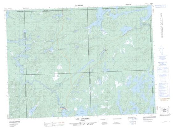 Lac Mourier QC Maps Online   Free Topographic Map Sheet 031M16 at 1     Lac Mourier Topographic Paper Map 031M16 at 1 50 000 scale