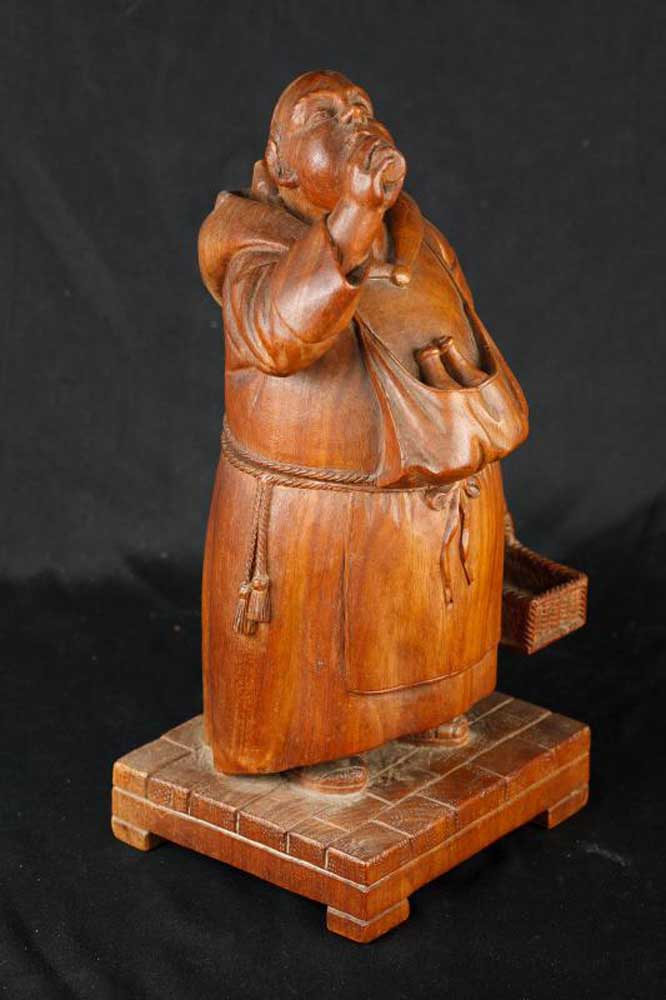 Antique Black Forest Hand Carved Monk Figurine German