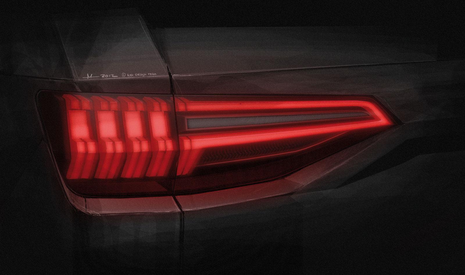 Audi Crosslane Coupe Concept Tail Light Design Sketch Car Body Design