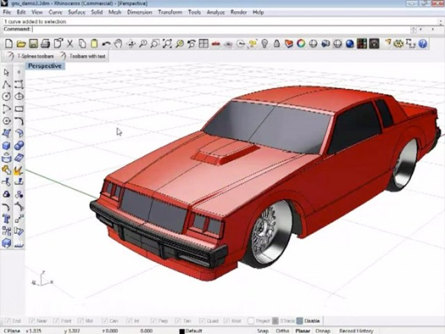 Vehicle modeling with T Splines for Rhino 3D   Car Body Design Vehicle modeling with T Splines for Rhino 3D