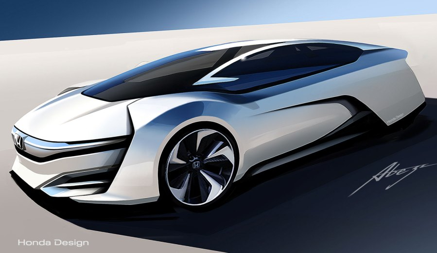 Honda FCEV Concept Design Sketch   Car Body Design Honda FCEV Concept Design Sketch