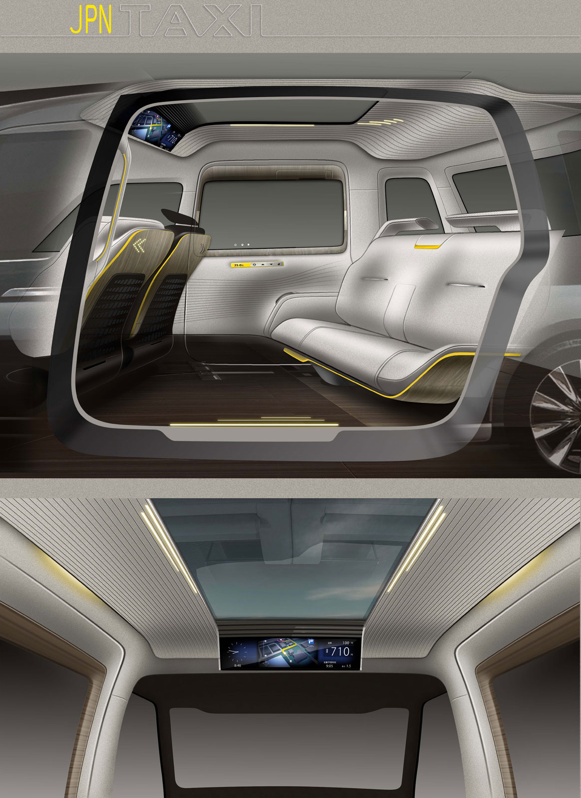 Toyota Jpn Taxi Concept Interior Design Sketches Car