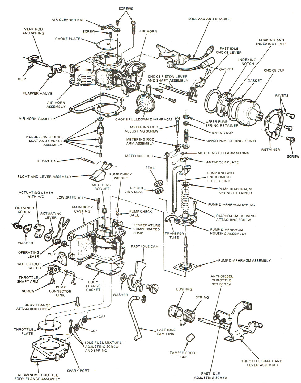 Rochester 2g Carburetor Exploded View Holley 1904g Diagrams The Old Car Manual Project