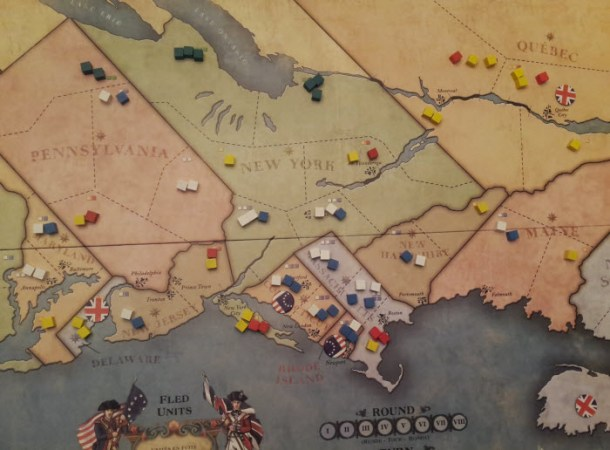 The Cardboard Republic      1775 Rebellion The Starting Map