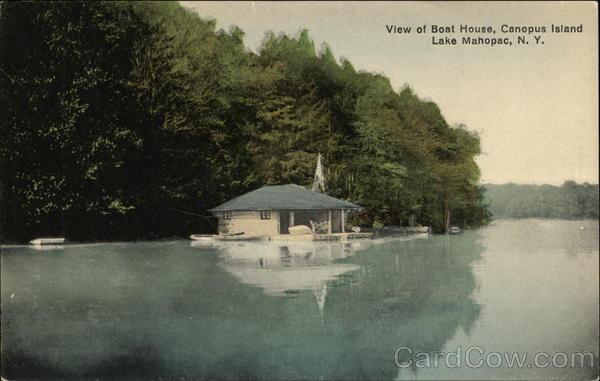 View Of Boat House Canopus Island Lake Mahopac Ny