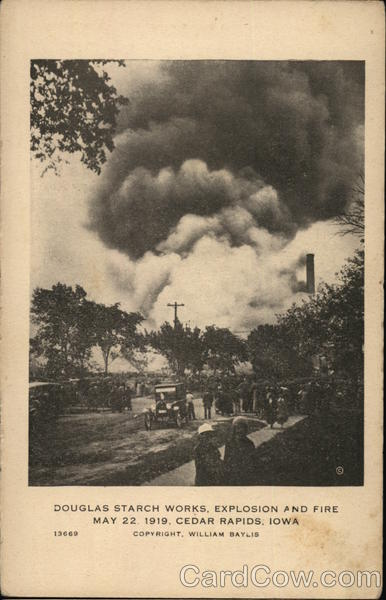 Douglas Starch Works Explosion And Fire Cedar Rapids Ia