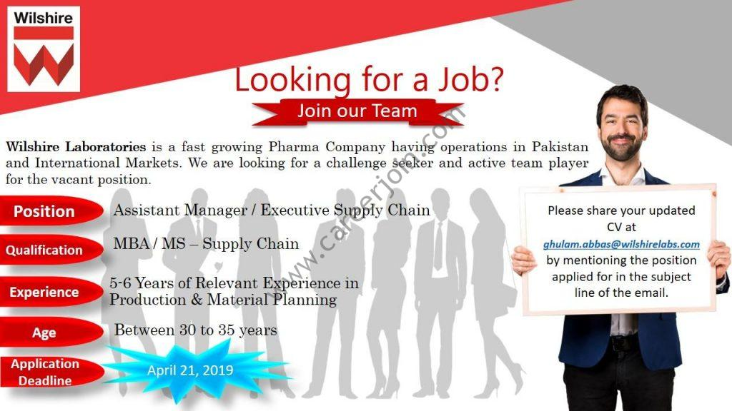 Wilshire Laboratories Jobs Assistant Manager/Executive