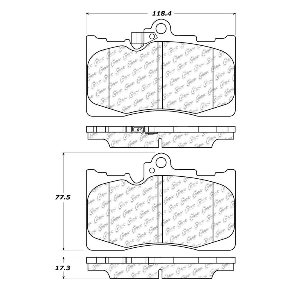 C tek™ ceramic brake pads diagram